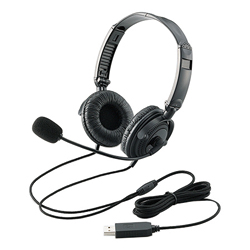 Large Caliber Driver Folding USB Headset (Binaural Overhead)