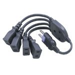 Power Strip, 4-Way Distributed Cord - 15 A