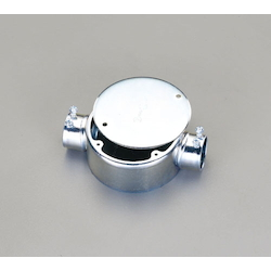 Round Exposed Box (Straight 2-Side Outlets) EA940CS-25