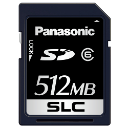 High Durability Commercial/Industrial Use SD Memory Card FX Series (512 MB - 16 GB)