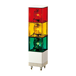 Multi-Tiered Voice Synthesizer / Electronic Sound Revolving Light Cubic Tower