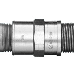 Combination Coupling (for use with a standard plica and a steel electrical conduit or thick steel electrical conduit with screws)