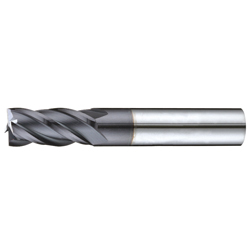 End Mill with 4 Carbide Flutes 35° E124X