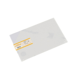 PVC Plate 1x200x300 mm Milky White Semi-transparent