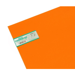 PS Plate 450 x 600 x 1.0 mm Orange Clear