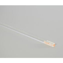 Acrylic Transparent Square Bar 1-groove type for 2 mm Use