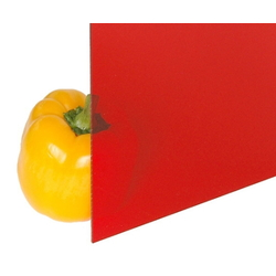 Acrylic Sheet 2x1100x1300 mm Transparent Red