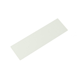 Acrylic Rectangle 100x30x2 mm White