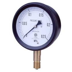 MPP Plastic Closed Pressure Gauge SUS, Vibration-Proof Type, Rimless Type (A)