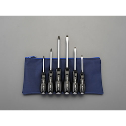 [6 Pcs] (+)(-) Hammerhead Screwdriver EA560L-600