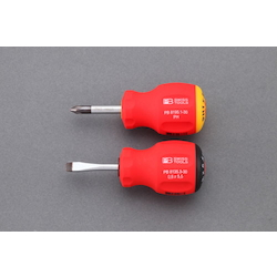 [2 Pcs] (+)(-) Stubby Screwdriver EA564DH-2