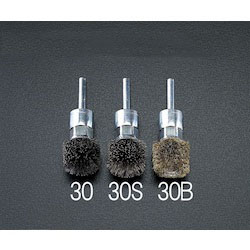 [Stainless steel]Wire Brush with Shaft (6mm Shaft) EA819BK-30S