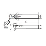 JIS Standard Point Nose Straight Bit, 35 Type