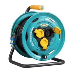 BN-PN30K Rain Proof Type Power Reel (for Outdoor Use) (with Temperature Sensor), 30 m, 2 PNCT Cables, with Overload Leakage Circuit Breaker
