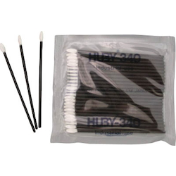 Industrial Cotton Swabs (Flat Pointed-End type 0.5x3.8 mm/Conductive Plastic Shaft)