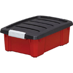 Storage Case, Buckle Box, Dark Gray / Red