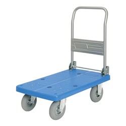 Cart with Pneumatic Tires with Fold-Able Handle and Stoppers