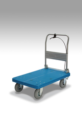 Cart with Pneumatic Tires, Fixed Handle, and Stoppers