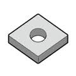 "Turning Insert Diamond 80°, Negative, with Hole, CNMG12○○PT ""for Intermediate to Rough Cutting / High-Feed"""