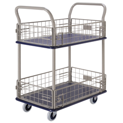 Small Steel Dolly, 2-Level with Spill Guard