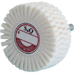 Slitted Felt Wheel with Shaft (Shaft Diameter: 6 mm)