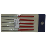 Diamond Electrodeposition Taper File DTYE, Flat Round Handle, Same Shape/Same Grain Size, 5-Piece Set