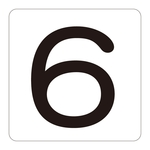 Number Display Sticker 6