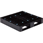 Plastic Pallet, Flat Stacking, Operational Limitation Type, Black