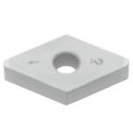 SUMIBORON Insert, 55° Diamond-Shape With Hole, Negative, 2NC-DNGA