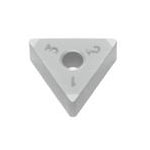 SUMIBORON Insert, Triangle-Shape With Hole, Negative, 3NC-TNGA