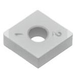 SUMIBORON Insert, 80° Diamond-Shape With Hole, Negative, 4NC-CNGA-HS