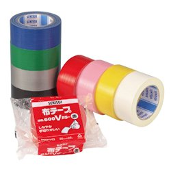 Cloth Tape No.600V Color Black/White/Green/Red/Silver/Blue/Yellow/Pink