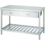 Stainless Steel Workbench, Drainboard Type, with Drawers, SUS430 Uniform Load (kg) 250
