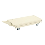 Work Bench Optional Pedal Elevator Hand Truck, 4 Wheel, Ivory