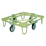 Freely Rotating Dolly, ⌀200, Rubber, without Handle