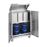 Stainless Steel 18 L Drum Storage - 18 L Drum/Pail Dual Use Type - Movable Type
