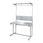 Adjustable Height Stainless Steel Work Bench with Free Hanger Average Load (kg) 200