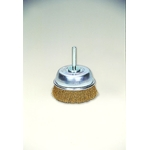 Cup Brush with Brass Shaft