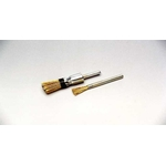 Cylindrical Brush with Caulking Tying Type Steel Plated Straight Wire Shaft (Yellowish Wire)