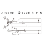HSS Bit JIS51 Model S509 Model Threading