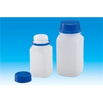 Wide-Mouth Square Bottle 1,000 ml to 4,000 ml HDPE / Square Bottle with Only Cap for Confirmed Opening
