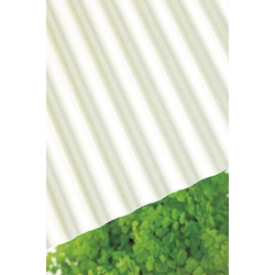 Polycarbonate Corrugated Sheet, Opal-Milk