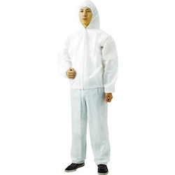 Nonwoven disposable protective clothing, jumper with hood, 60 pieces