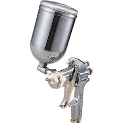 Spray Gun with Cup Set Gravity Type Nozzle Diameter (mm) φ1.1 to φ1.4 Cup Material Aluminum Die-Casting