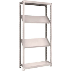 Small to Medium Capacity Boltless Shelf Model M2 (200 kg Type, Height 1,800 mm, 4 Shelf Type of Which 2 Are Inclined Shelves, Front Strike Plates Provided) Single Unit Type