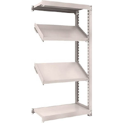 Medium Capacity Boltless Shelf Model M3 (300 kg Type, Height 1,800 mm, 4 Shelf Type of Which 2 Are Inclined Shelves, Front Strike Plates Provided) Linked Type