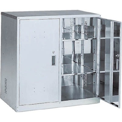 Anti-Seismic Chemical Cabinet, Stainless Steel, Double Opening Door Type