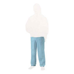 Nonwoven disposable protective clothing, pants, blue