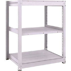 Medium Capacity Boltless Shelf Model TUG (600 kg Type, Height 1,200 mm, 3 Shelf Type) Single Unit Type (Height 1,200 mm, 3 Shelf Type)