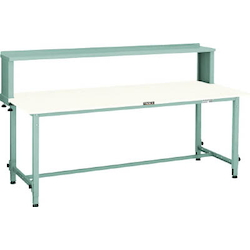 Lightweight Adjustable Height Work Bench with Upper Shelf Plastic Panel Tabletop Average Load (kg) 150